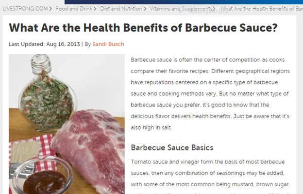 Health Benefits of Barbecue Sauce